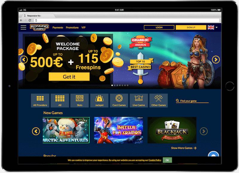 Konung Casino Bitcoin Bonus